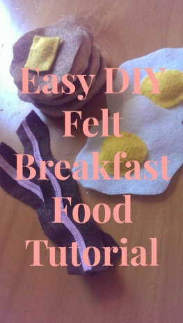 felt play food tutorial
